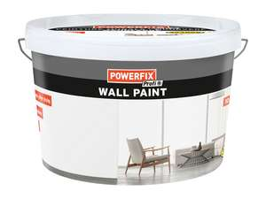 Powerfix white wall paint 10l - £8.99 @ LIDL instore & online