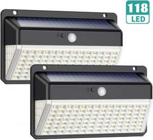 118 LED Solar Security Lights £12.56 - Sold by XDtechs and Fulfilled by Amazon (+£4.49 Non-prime)