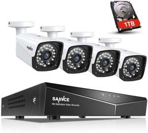 SANNCE POE CCTV 4CH XPOE NVR Recorder 1TB HDD + 4 x 2.0MP Cams £134.37 - Sold by SMG-SANNCE MINDKOO GLEDTO Ltd and Fulfilled by Amazon