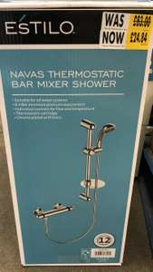 Navas Thermostatic Bar Mixer Shower - Chrome £24.84 @ Homebase (Bishop Auckland)