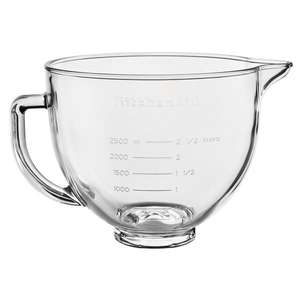 KitchenAid 4.8l Glass bowl with lid £47.49 delivered @ Harts of Stur