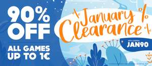 90% OFF Any game that is 1 Euro or less @ Gamivo