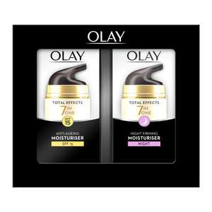 Olay Total Effects 7 In 1 Gift Set: Day SPF15 & Night (2 x 37ml), £9.99 @ Savers In Store & Online + £3.95 delivery