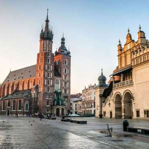 Krakow: 2 Nights at a 3* Hotel including Auschwitz Tour and Return Flights from London £71.20 (£142.40 total) @ Groupon (New customers only)