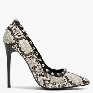 Carley Grey Reptile Studded Court Shoes £15.20 with code (free click and collect) @ Daniel Footwear