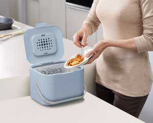 Joseph Joseph - Stack 4 Food Waste Caddy with filter- Blue - £13.50 with code + £3 delivery