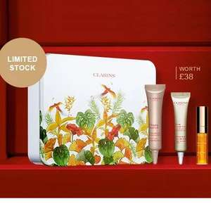 Clarins Sale + 6 free samples - Eg: £10.65 for Festive Prime & Pout Cracker + 6 free samples