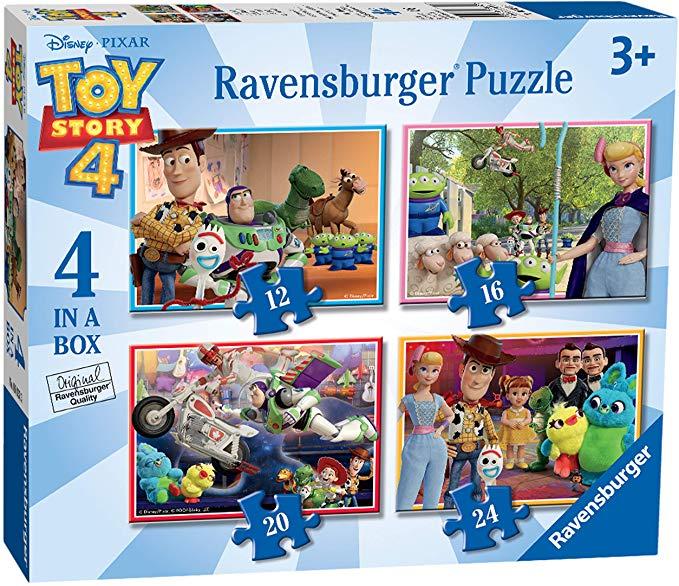 Ravensburger UK 6833 Ravensburger Disney Pixar Toy Story 4, 4 in a Box (12, 16, 20, 24pc) Jigsaw Puzzles - £4.35 @ Amazon Prime (+£4.49 NP)