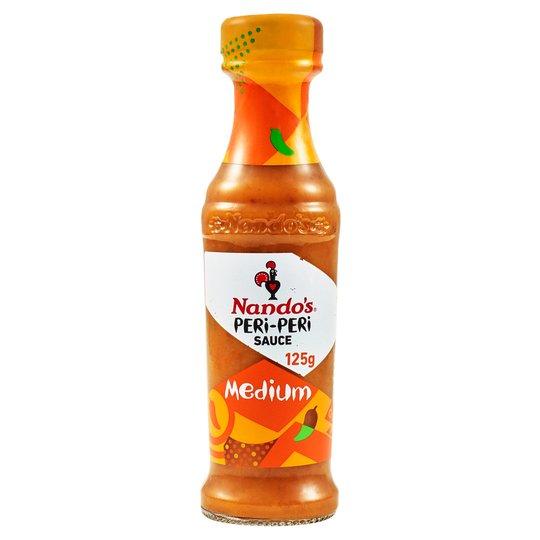 Nandos Medium / Garlic / Lemon & Herb / Hot / Extra Extra Hot Peri Peri Sauces 125g £1 @ Tesco