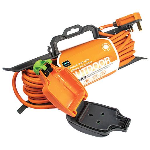 Masterplug Weatherproof Garden Tidy Extension Lead - 15m 10A £5.00 @ Wickes