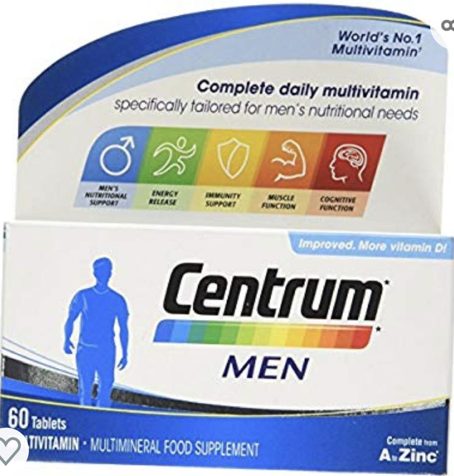 Centrum Men 60 Tabs at Amazon £8 (£5.90 S&S) Prime (+£3.49 non Prime)