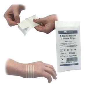 50 strips of Qualicare Wound Closure stitches for £2.89 Prime (+£3.49 non Prime) Sold by Healthstore Online and Fulfilled by Amazon