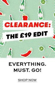 19 Clearance - All footwear and accessories are just £19 Extra 40% off 200+ boots with code at Shoeaholics