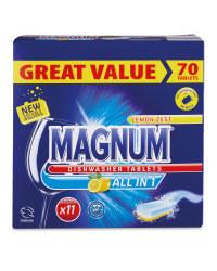 Magnum All-In-1 Dishwasher Tablets 70 £4.99 at Aldi