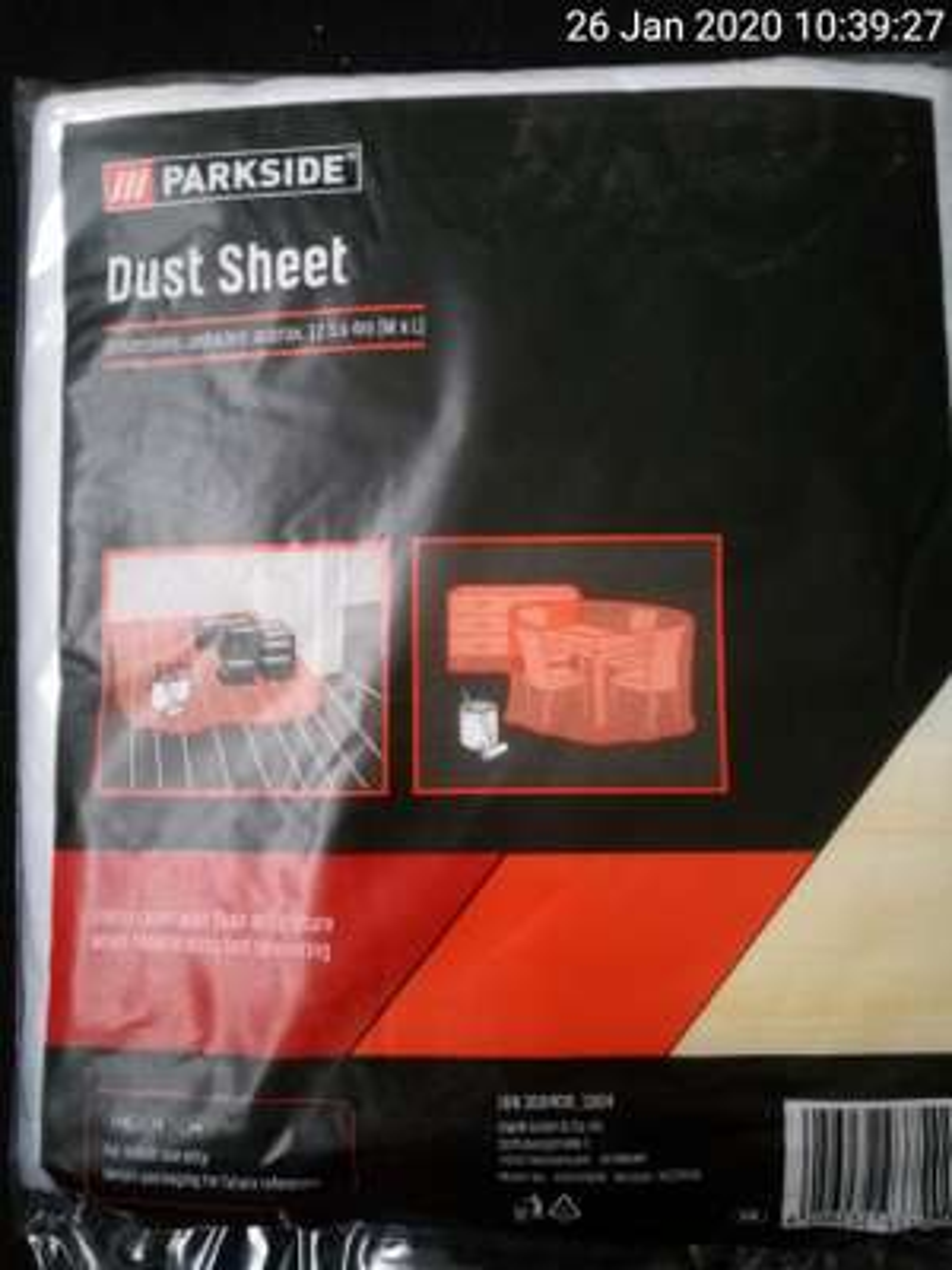 Lidl 'parkside' 12.5m x 4m dust sheet £1.99 at Lidl Dewsbury, West Yorkshire