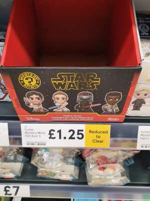 Funko Star Wars minis - RTC £1.25 from £5.00. Tesco Great Yarmouth