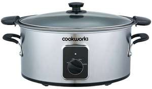 Cookworks 4.5L Searing Slow Cooker - Stainless Steel £19.99 at Argos (Free collection)