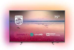 Philips 75PUS6754/12 75-Inch 4K UHD Smart TV with Ambilight, HDR 10+ £899 @ Amazon