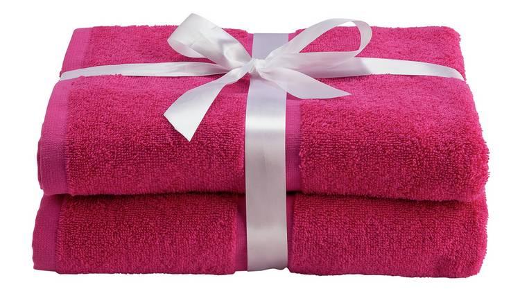 X2 Bath Towels Fuschia / Navy / Stone / Yellow , Now £4 @ Argos ( Free Click & Collect )