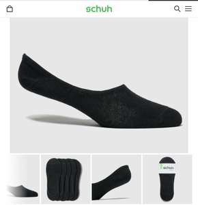 Schuh L super low trainer socks 5pk various sizes (black or white) £2.99 @ schuh (free C&C, or add £1 delivery
