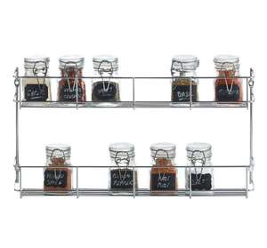 2 Tier Spice Rack, Chrome plated, 2 year warranty, FREE Delivery @ VONSHEF.com can checkout with paypal, no sign up.