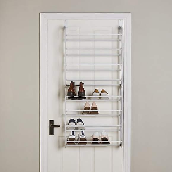 Dunelm - Over the Door 8 Tier Metal Shoe Rack (24 pairs) - £5 - Free Click & Collect