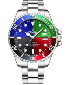 Just one more watch, Subby 'homage' Automatic, solid link strap, mad colours - £18.72 @ GearBest