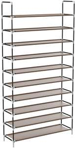 Sable Shoe Rack,10-Tier Shoe Standing Storage for 50 Pairs of Shoes for £14.24 Prime/+£4.49 Non Prime Sold by Sunvalleytek_UK & FBA