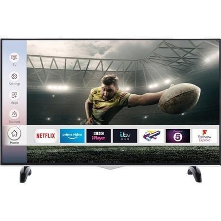 "electriQ 58"" 4K DLED SMART WITH HDR FVP Netlifx + Alexa + Prime E58UHDHDRSQ £299.97 + £19.99 p&p Appliances Direct"