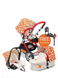 Infababy EVO 3in1 Travel System + FREE BASE £275.49 with code at Infababy