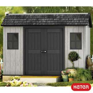 """Keter Oakland 11ft x 7ft 6"""" Shed £899.99 Costco"""