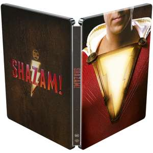 Shazam! 4K Ultra HD (Includes 2D Blu-ray) – Limited Edition Steelbook £13.49 with redcarpet free delivery (otherwise £14.99+delivery)