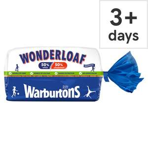 Warburtons Wonderloaf Medium Sliced 800G £0.50 @ Tesco