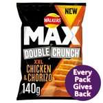 Walkers Max Double Crunch 140g Share Bags £1 On Offer @ Morrisons Instore & Online