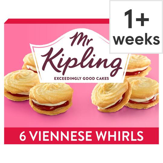 Mr Kipling Viennese Whirls 6 Pack 87p at Tesco