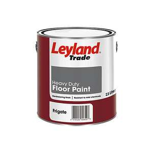 Leyland Trade Heavy Duty Floor Paint - Polyurethane Alkyd Resin - Frigate Grey - 2.5L - £9.99 @ Screwfix - Free Click & Collect