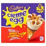 Cadbury Creme Egg Cones 4 x 100ml On Offer £2 @ Morrisons Instore & Online