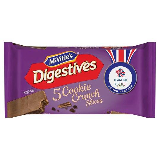 Mcvities Digestives 5 Cookie Crunch Slices 128.6G £0.72p @ Tesco Instore & Online