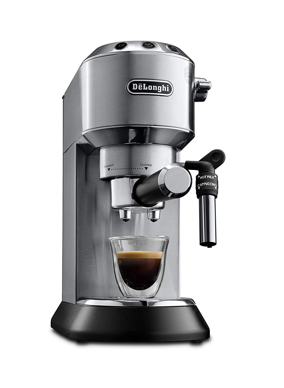 De'Longhi Dedica Style Traditional Pump Espresso Machine Coffee & Cappuccino EC685M, Silver from £89.10 Used Very Good at Amazon Warehouse