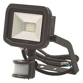 Luceco Guardian LED Floodlight & PIR Black 8W Cool White £9.99 at Screwfix (Free collection) -More in OP