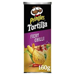 Pringles Tortilla Chips Fiery Chilli 160g - 79p in-store @ Heron Foods Bury