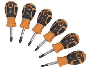 Magnusson Mixed Stubby Screwdriver Set 6 Pieces- £5.99 + Free Click & Collect @ Screfix
