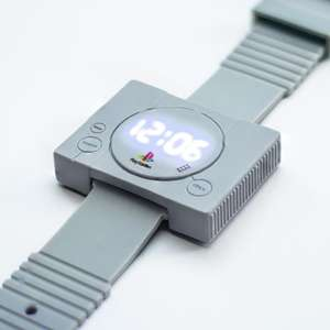 Officially Licensed Digital PlayStation Watch with Silicone Strap £5 Prime (+£4.49 non prime) @ Menkind Fulfilled by Amazon