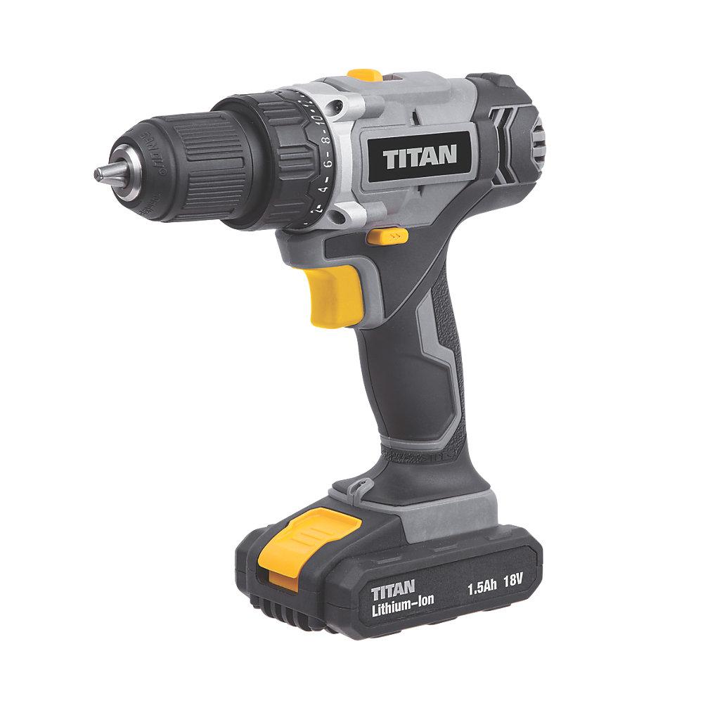Titan TTI700DDH 18V 1.5Ah Li-Ion Cordless Drill Driver £29.99 Screwfix