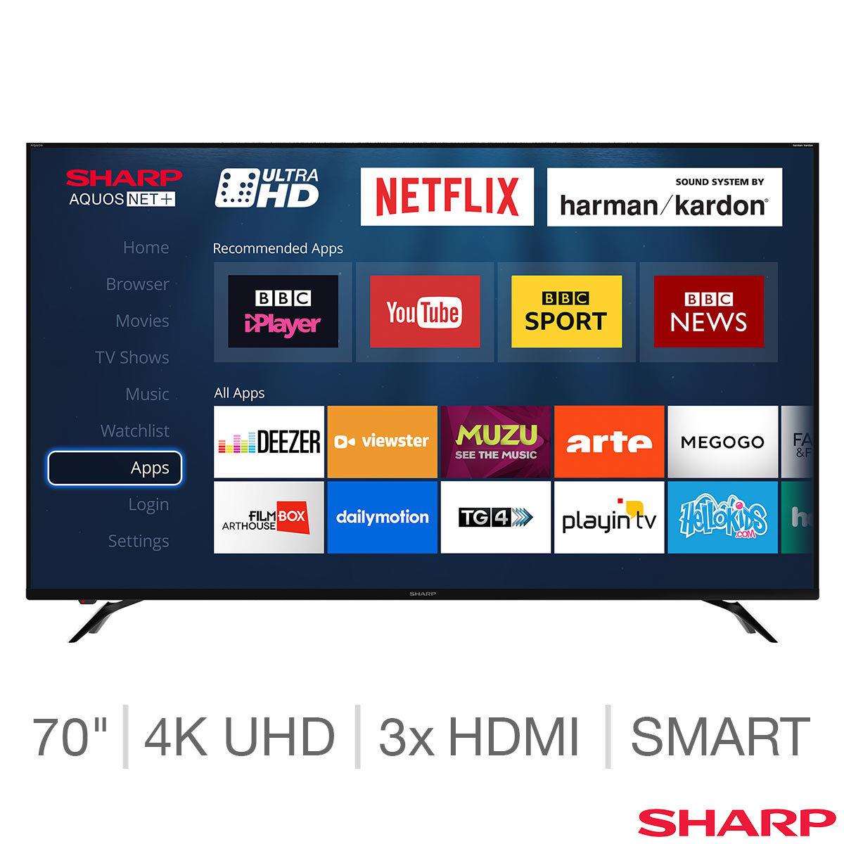 Sharp LC-70UI9362K 70 Inch 4K Ultra HD Smart LED TV £749.99 at Costco