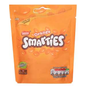 Orange Smarties Packet 106g now 50p in Poundland Leeds Crown point