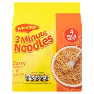 2 x 4 Packs Maggi Curry Flavour Noodles (8 x 59g) £1 at Heron Foods, Abbey Hulton