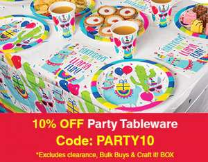 Extra 10% off Party Tableware with voucher code @ Baker Ross