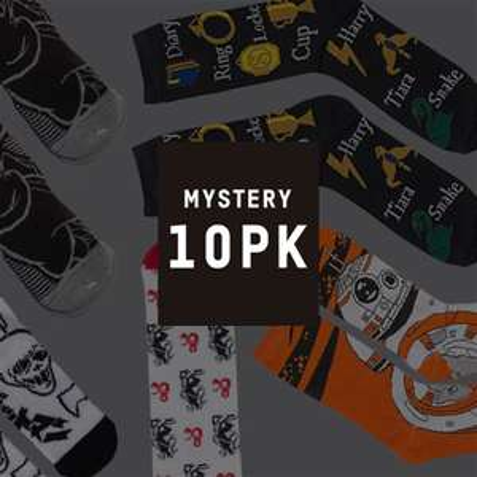Mystery Geek Socks - 10 Pack £12.99 Delivered using code @ Zavvi