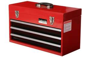 Halfords 3 Drawer Metal Portable Tool Chest £25 + Free C&C at Halfords